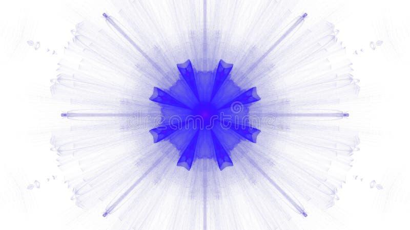 Digitale blauwe trillend van het kunstontwerp op witte achtergrond royalty-vrije illustratie