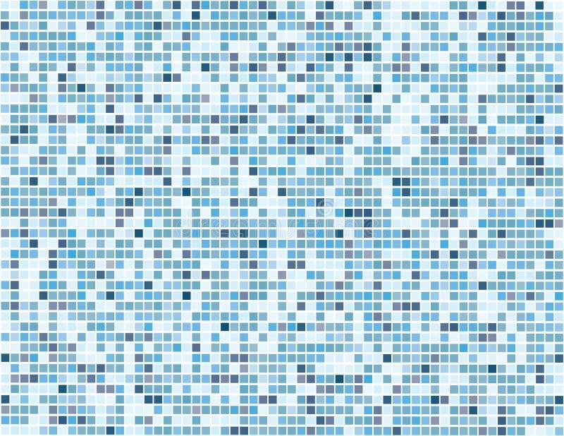 Digitale blauwe vierkanten - vector stock illustratie