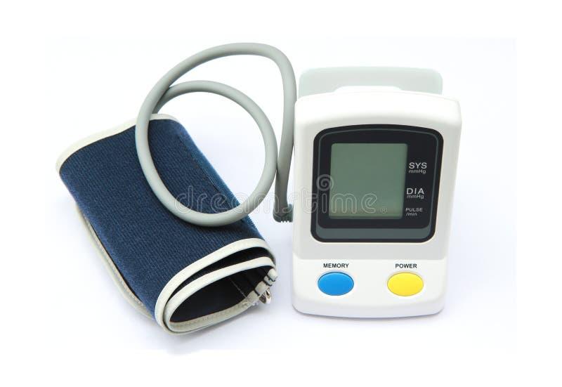 Digitale bloeddrukmaat stock afbeeldingen