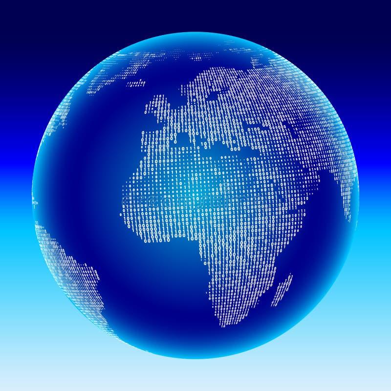 Digitale bol. Afrika, Europa. vector illustratie