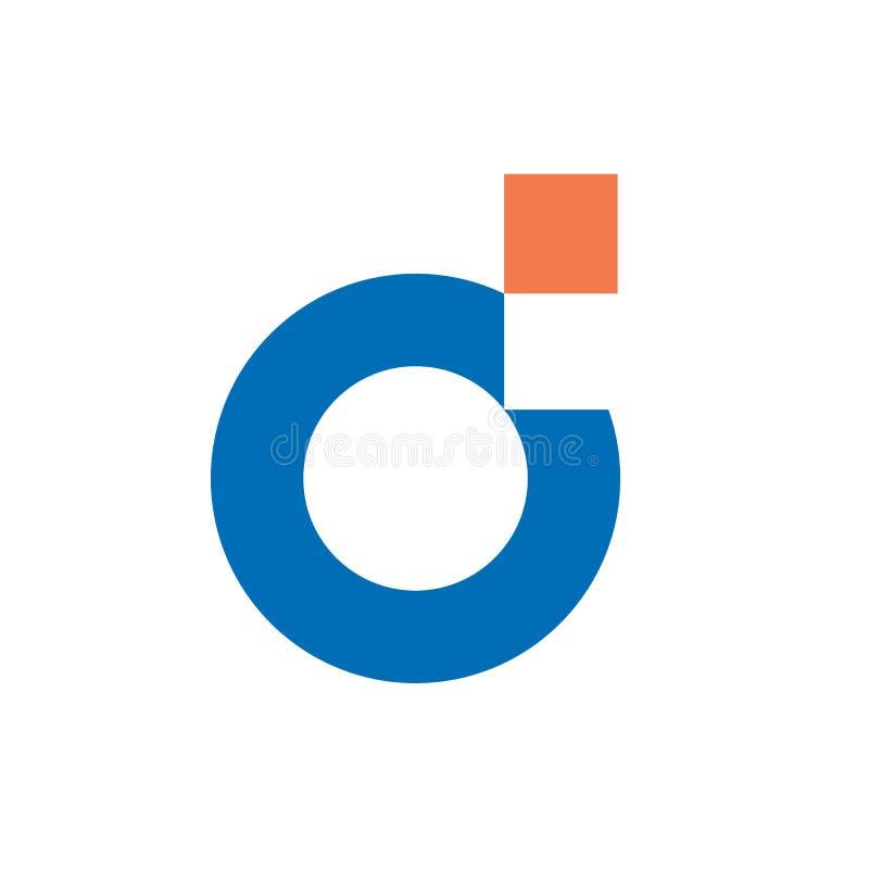 Digitale Brief D Logo Design vector illustratie