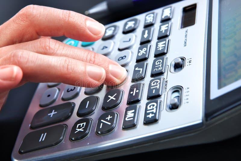 Digitale calculator stock fotografie