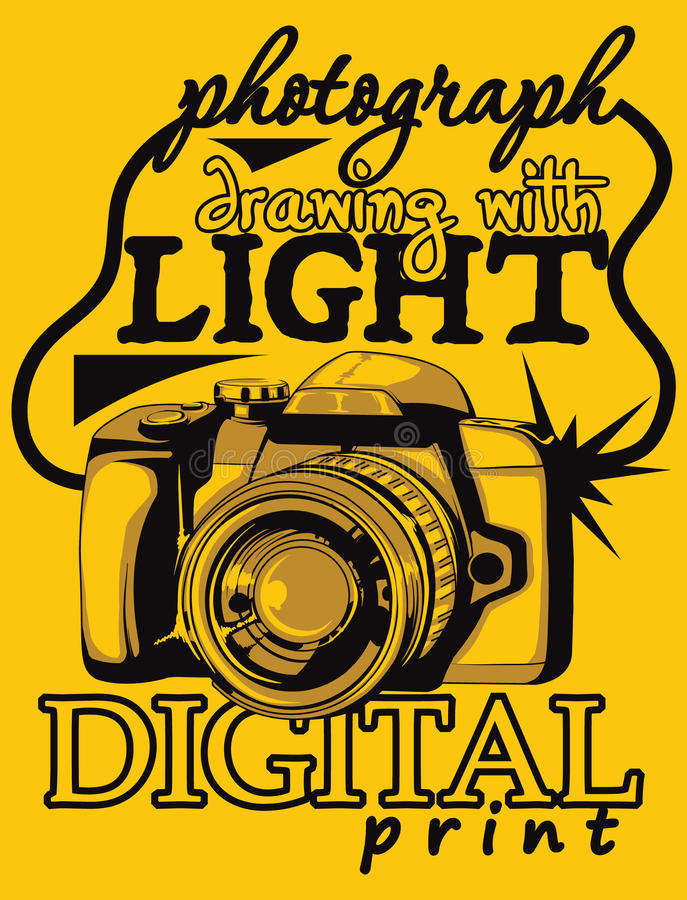 Digitale camera royalty-vrije illustratie