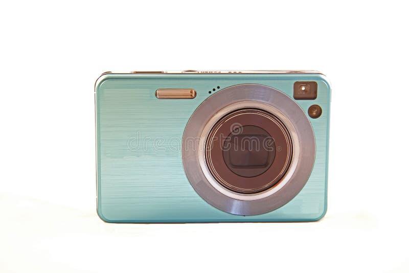 Digitale Camera die op Witte Achtergrond wordt geïsoleerdi royalty-vrije stock afbeeldingen