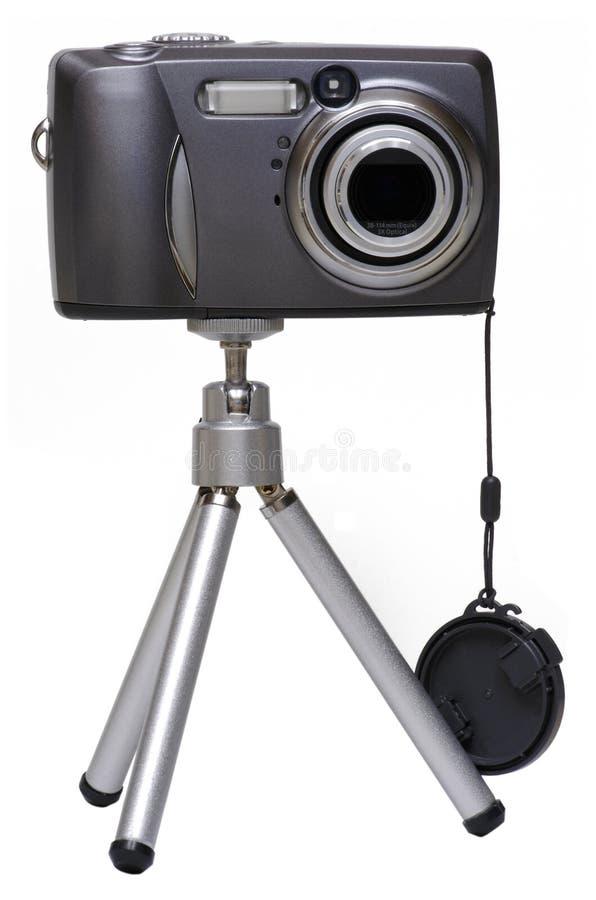Digitale Camera op een Geïsoleerdea Driepoot - stock afbeelding