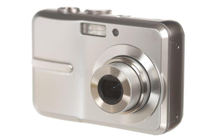 Digitale camera op wit royalty-vrije stock afbeeldingen