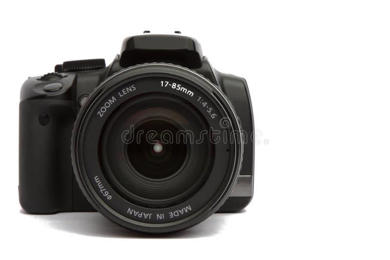 Digitale camera op witte achtergrond stock afbeelding