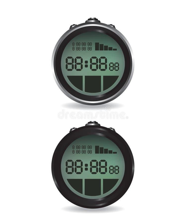 Digitale chronometerillustratie vector illustratie
