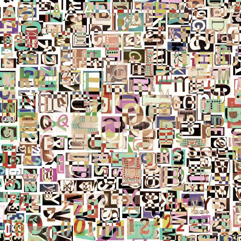 Digitale collage stock illustratie