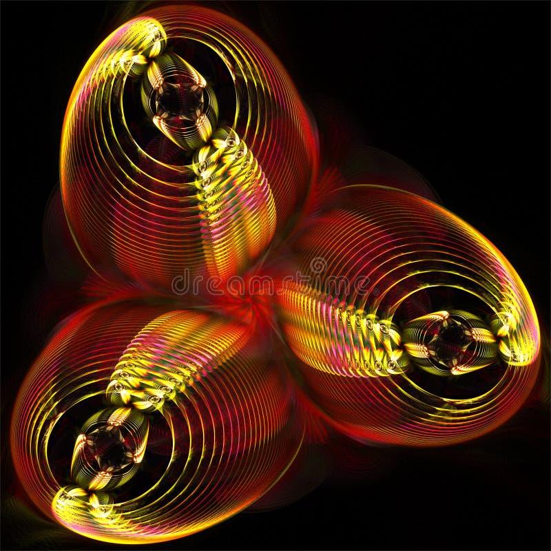 Digitale computerfractal kunst abstracte fractals mysticus futuristische glanzende voorwerpen vector illustratie
