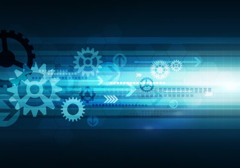 Digitale conceptuele bedrijfstechnologieachtergrond met pijl en royalty-vrije illustratie