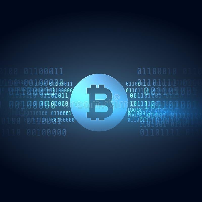 Digitale de stijlachtergrond van de geld bitcoins technologie vector illustratie