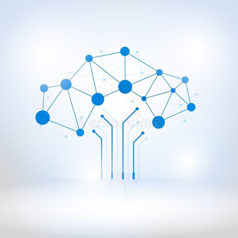 Digitale die boom van kringen wordt gemaakt royalty-vrije illustratie
