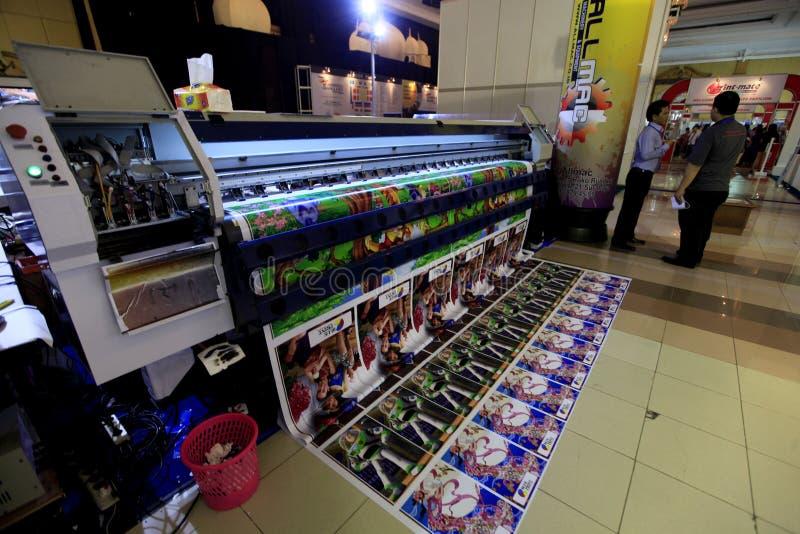 Digitale druk stock afbeelding