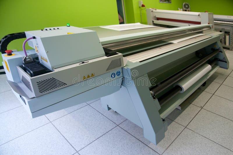 Digitale druk - brede formaatprinter stock afbeelding