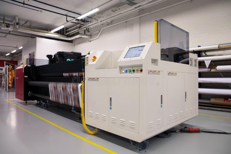 Digitale druk - brede formaatprinter stock foto