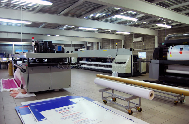Digitale druk - breed formaat stock fotografie
