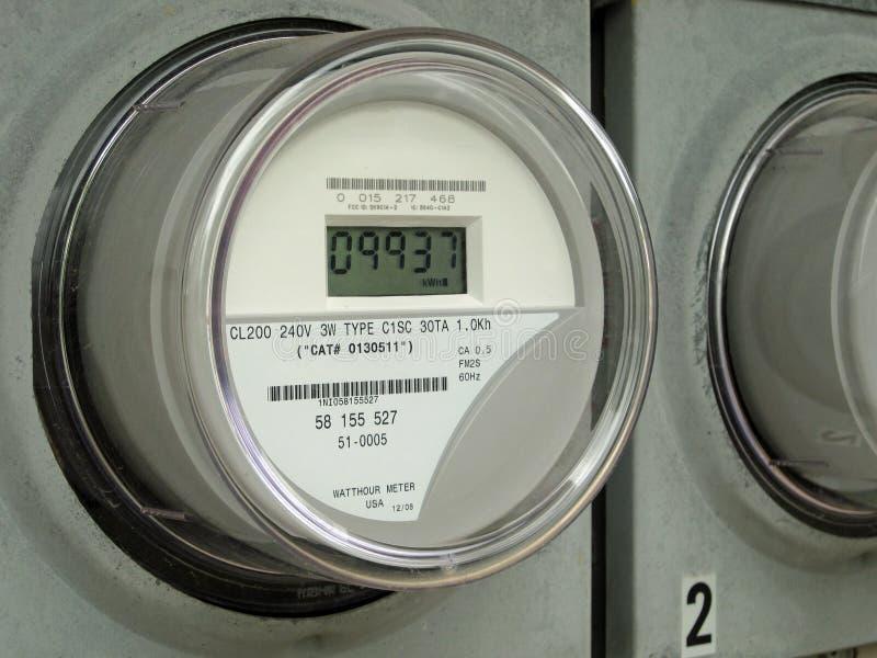 Digitale Elektrische Meter royalty-vrije stock foto