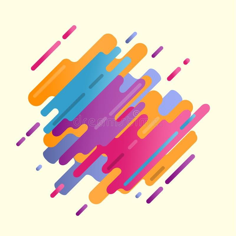Digitale Farbe der abstrakten Spritzenkunst vektor abbildung