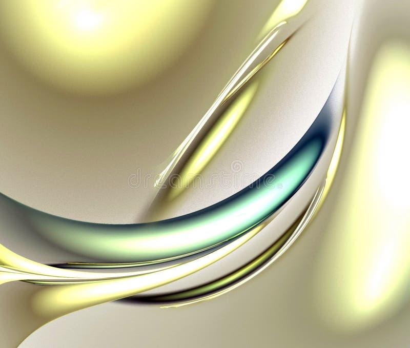 Digitale fractal op wit royalty-vrije stock fotografie