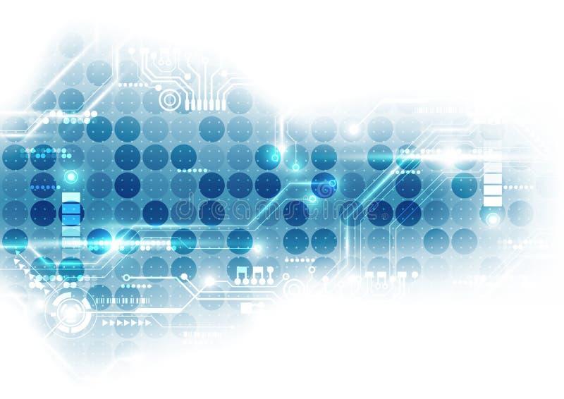 Digitale futuristico di tecnologia circuito di tecnologia chipset di tecnologia sottragga la priorità bassa Vettore illustrazione vettoriale