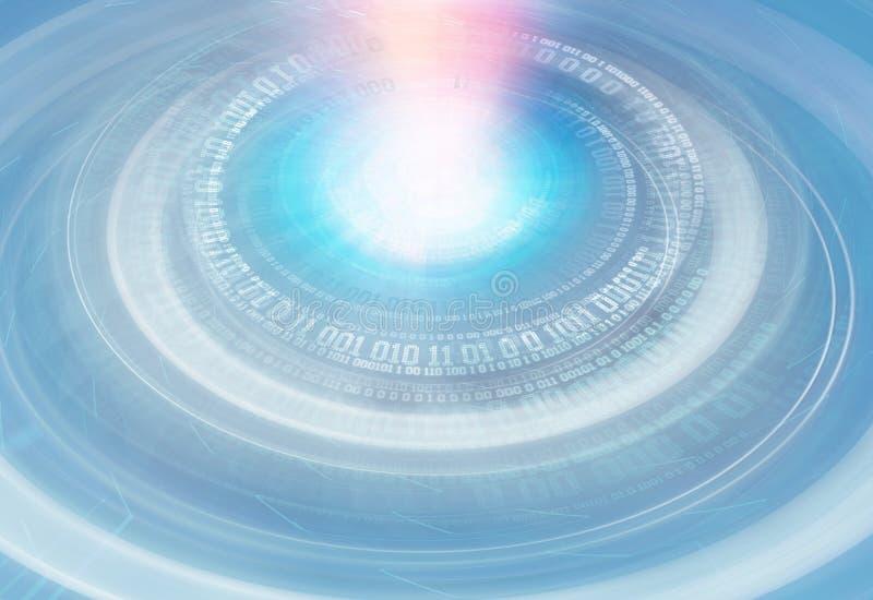 Digitale futuristische digitaal wereld van het achtergrondreeksconcept stock illustratie