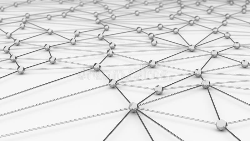 Digitale gegevens en netwerklijnen en gebieden i van de verbindingsdriehoek stock illustratie