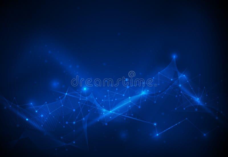 Digitale gegevens, globale mededeling, wetenschap en futuristisch concept royalty-vrije illustratie