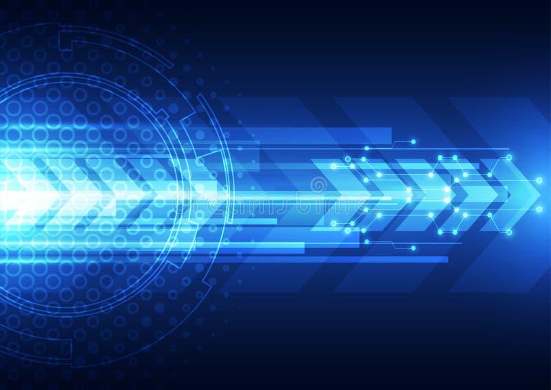 Digitale Geschwindigkeitstechnologie des Vektors, abstrakter Hintergrund