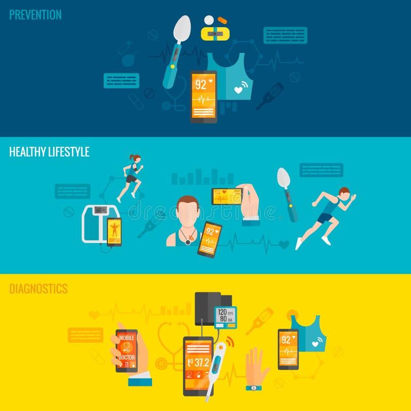 Digitale gezondheidsbanner royalty-vrije illustratie