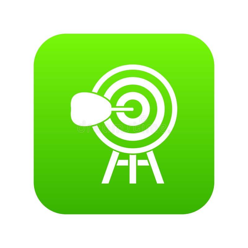 Digitale groen van het doelpictogram royalty-vrije illustratie