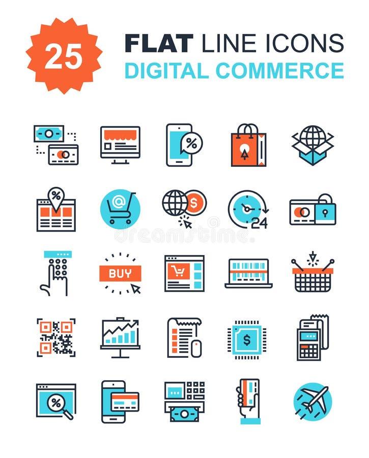 Digitale handel vector illustratie