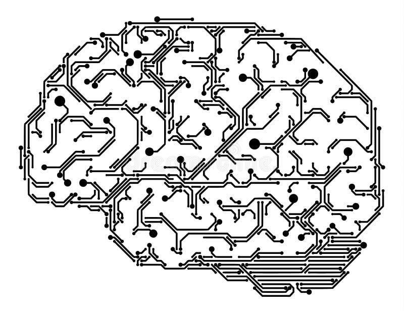 Digitale hersenenillustratie vector illustratie