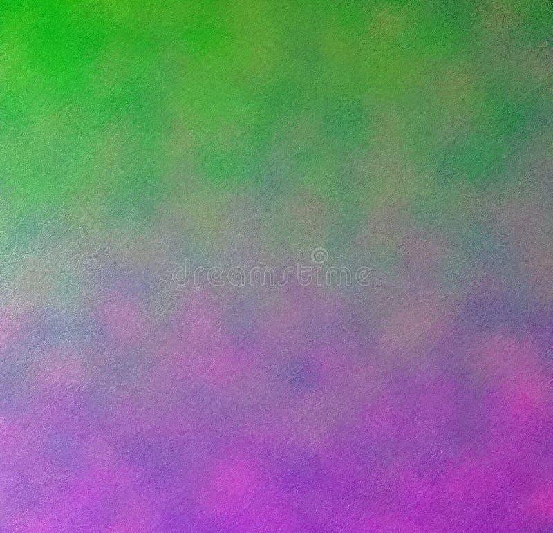 Digitale het Schilderen Abstracte Kleurrijke Achtergrond in Emerald Green en Levendig Viooltje met Multi-Layer Kleur royalty-vrije illustratie
