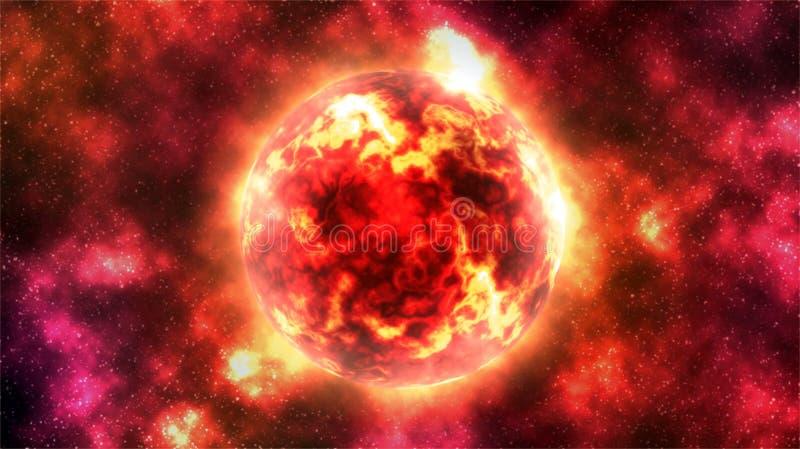 Digitale het Schilderen Abstracte Melkwegachtergrond - Sterexplosie in Diepe Ruimte vector illustratie