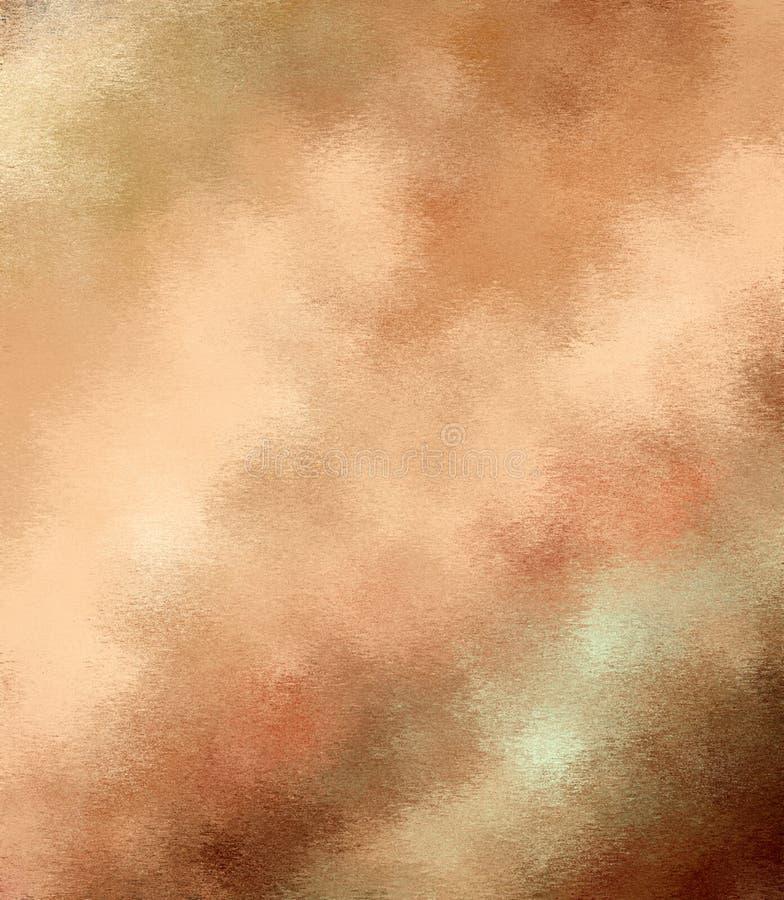 Digitale het Schilderen Abstracte Veelkleurige Achtergrond in Verschillende Schaduwen van Beige en Bruine Kleuren vector illustratie