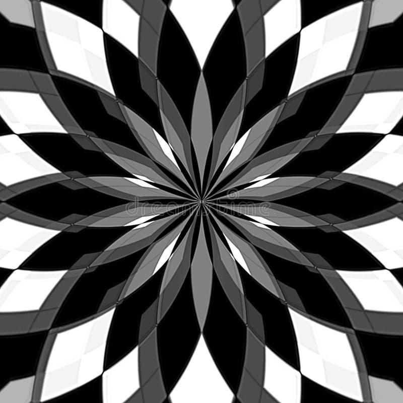 Digitale het Schilderen Abstracte Zwart-witte Achtergrond vector illustratie