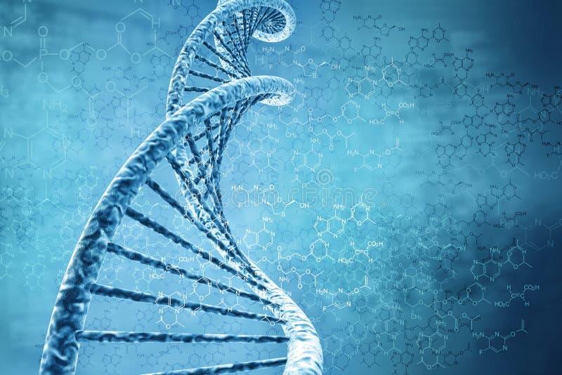 Digitale illustratie van DNA vector illustratie