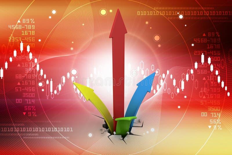 Digitale illustratie van het Kweken van pijlen vector illustratie