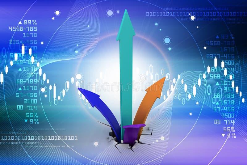 Digitale illustratie van het Kweken van pijlen royalty-vrije illustratie