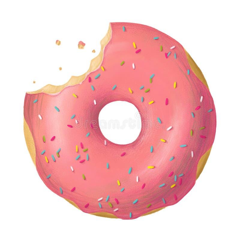 Digitale Illustration des Donuts stockbild
