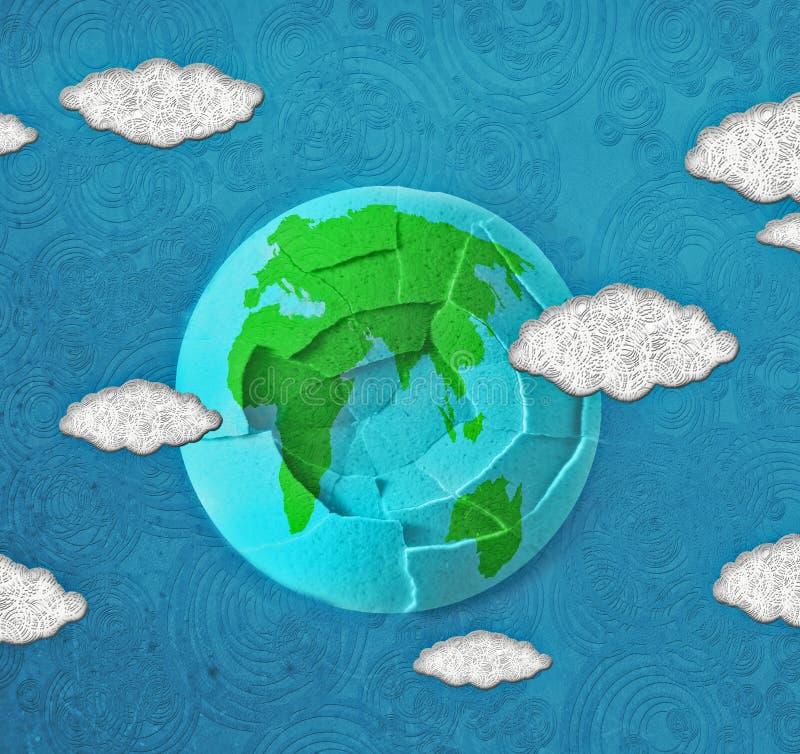 Digitale Illustration des Sprungsweltkonzeptes lizenzfreie abbildung