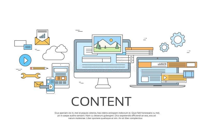 Digitale InhoudsInformatietechnologie royalty-vrije illustratie