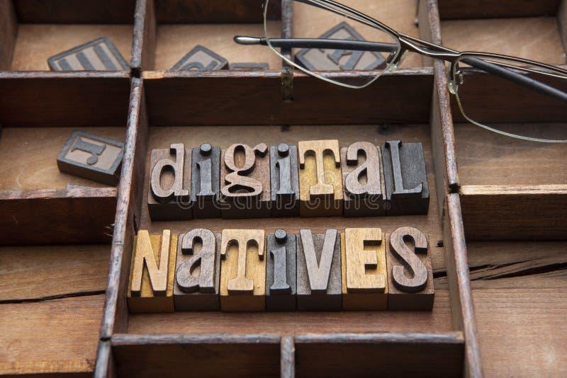 Digitale inwoners royalty-vrije stock foto's