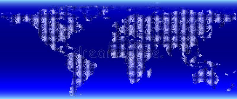 Digitale kaart. royalty-vrije illustratie