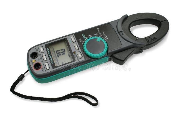 Digitale klemmeter. stock fotografie