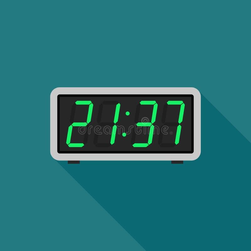 Digitale klok stock illustratie