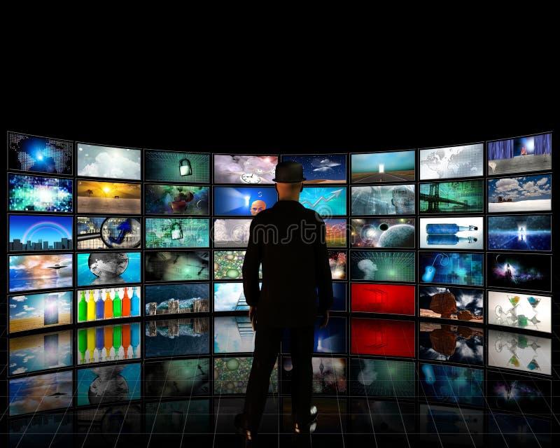 Digitale Kunstgalerie stock illustratie