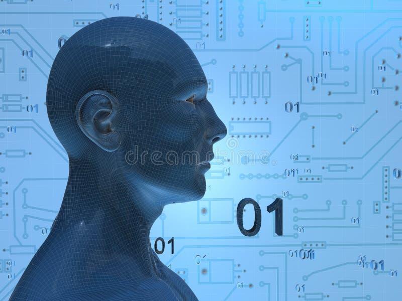 Digitale leeftijd vector illustratie