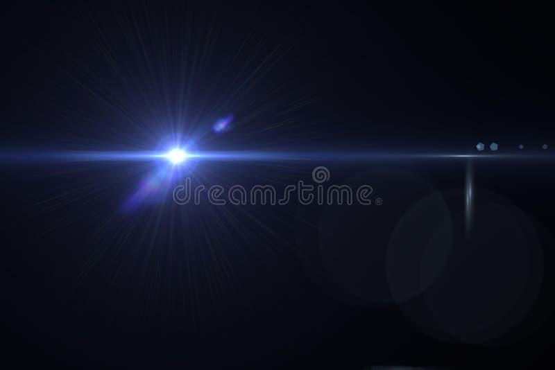 Digitale lensgloed stock illustratie